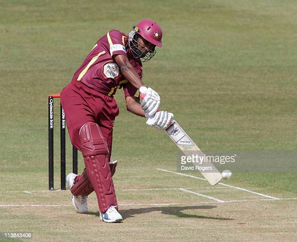 Chaminda Vass of Northants cuts the ball during the Clydesdale Bank 40 match between Northamptonshire v Warwickshire at Wantage Road on May 8 2011 in...