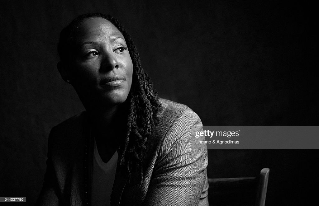 Chamique Holdsclaw poses for a portrait at Logo's 'Trailblazer Honors' on June 23 in the Cathedral of St John the Divine in New York City