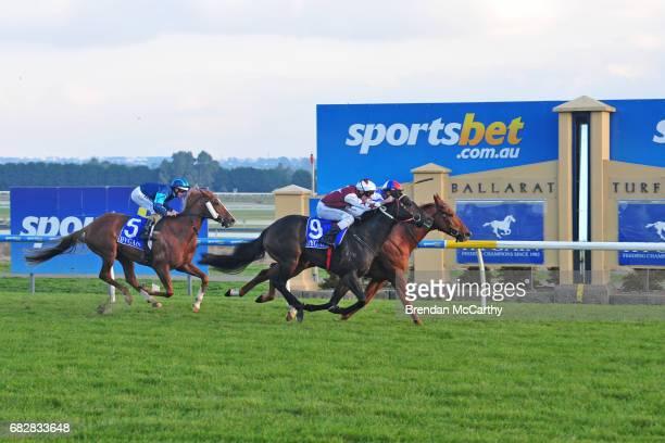 Chamois Road ridden by Michelle Payne wins the Hygain BM78 Handicap at SportsbetBallarat Racecourse on May 14 2017 in Ballarat Australia