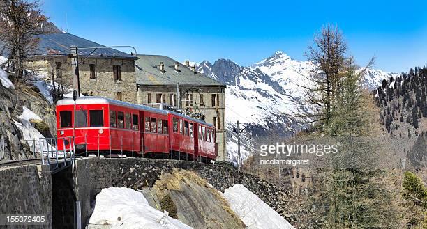 Chamonix-Montenvers train dans les Alpes françaises