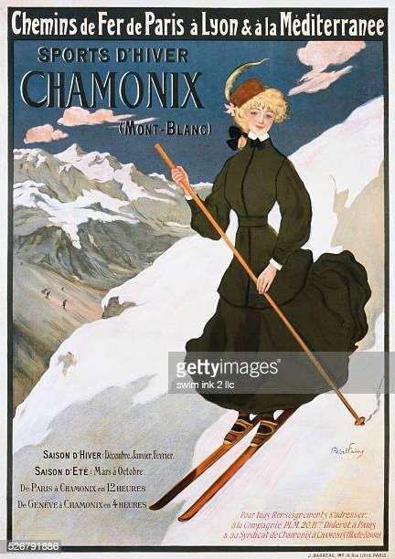 Chamonix Poster by Jules Abel Faivre