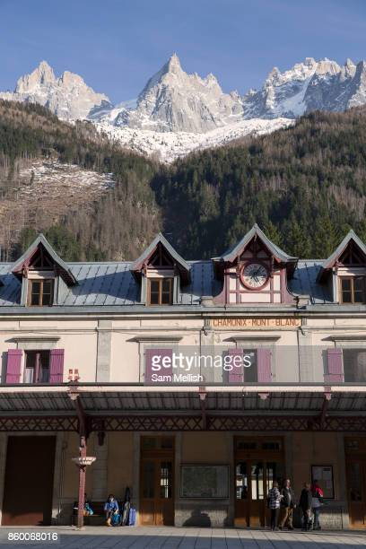 ChamonixMontBlanc in the French Alps on 20th March 2017