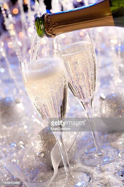 Champagne at a Christmas or New Year's Eve Party