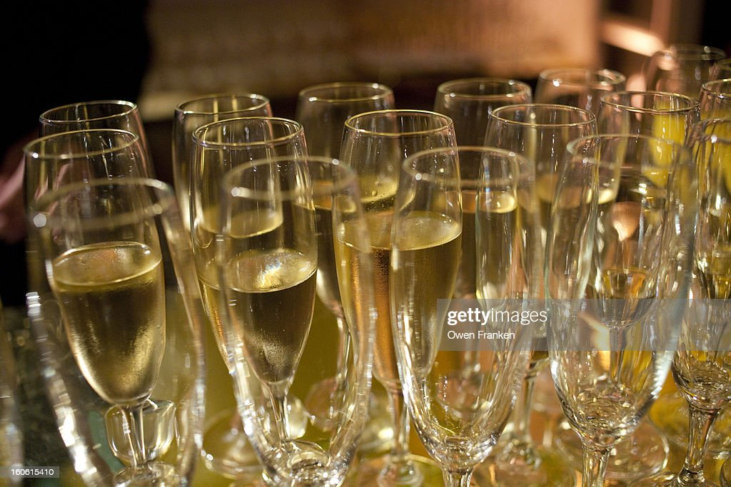 Champagne at a gala event : Stock Photo