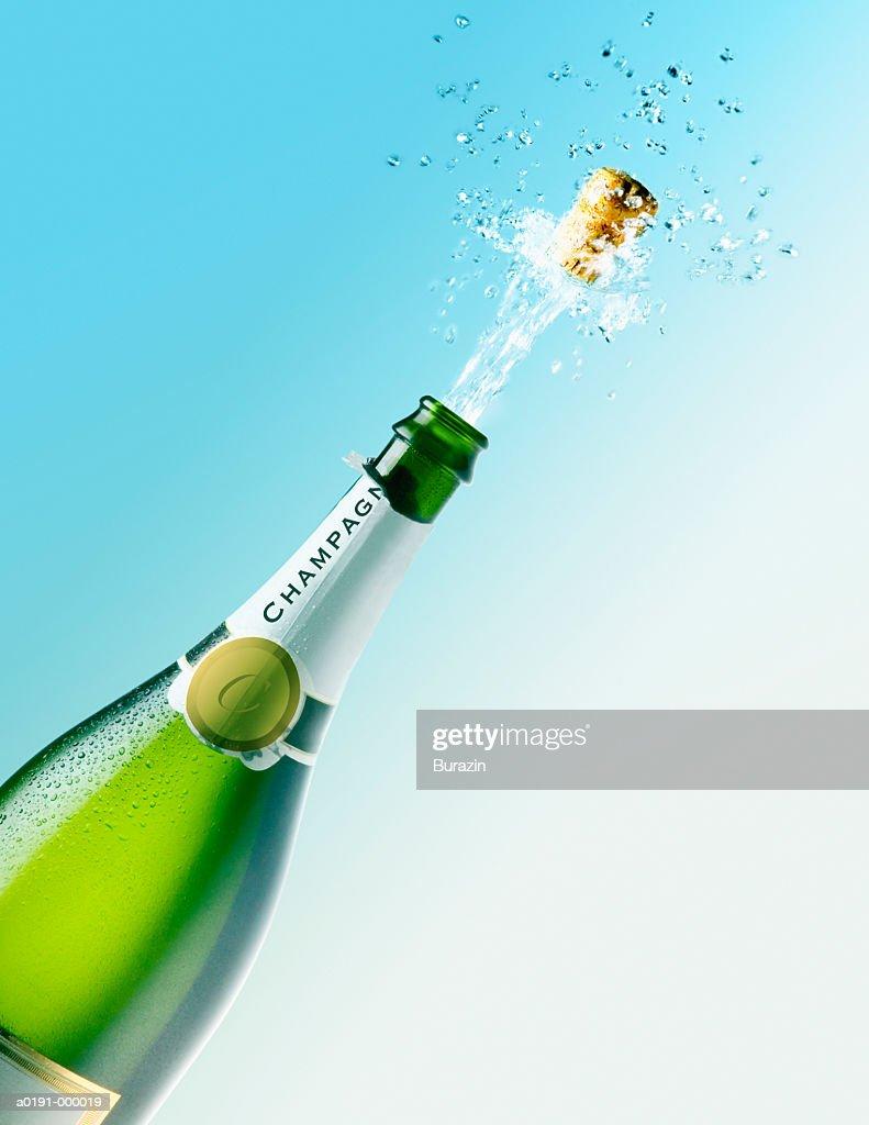 Champagne Bottle Opening : Stock Photo