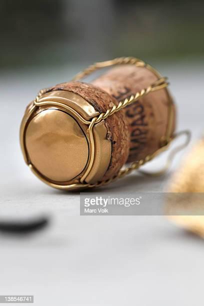 Champagne cork still life
