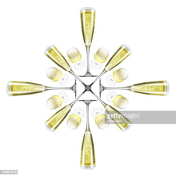 Champagne flute snowflake