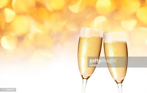 Champagne glasses toast