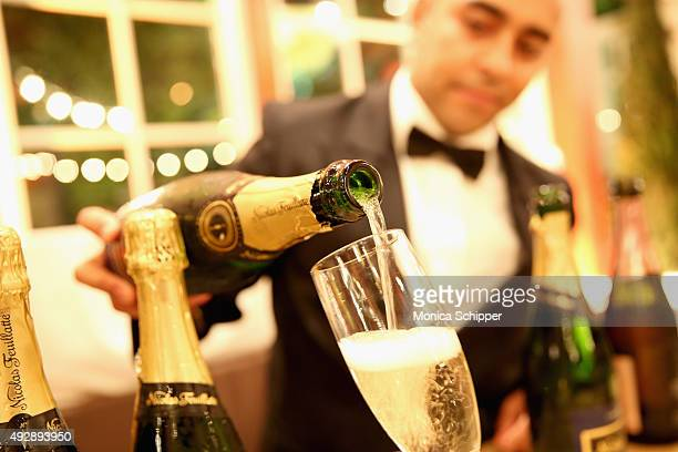 Champagne Nicolas Feuillatte on display at Chicken Coupe hosted by Whoopi Goldberg during Food Network Cooking Channel New York City Wine Food...