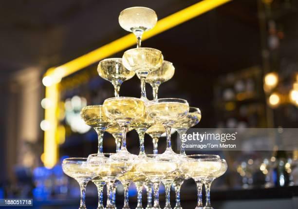 Champagne pyramid