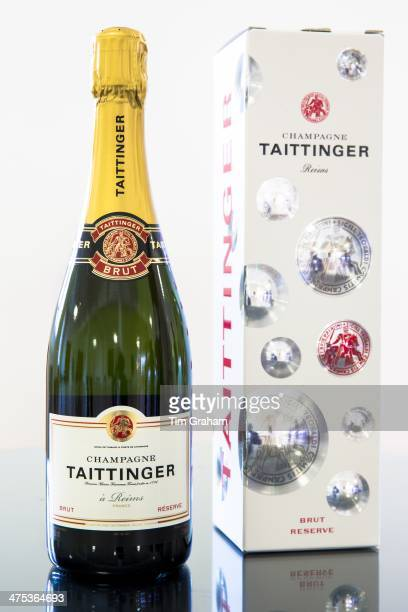 Champagne Taittinger Brut on display at Taittinger in Reims ChampagneArdenne France