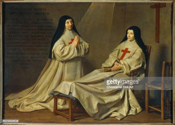Champaigne Philippe De Mother Catherine Agnes Arnault and Sister Catherine de Sainte Suzanne de Champaigne ex voto 1662 1662 Paris Louvre Museum