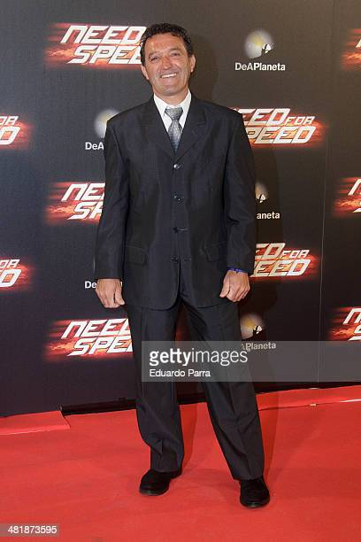Champi Herreros attends 'Need for speed' premiere photocall at Callao cinema on April 1 2014 in Madrid Spain