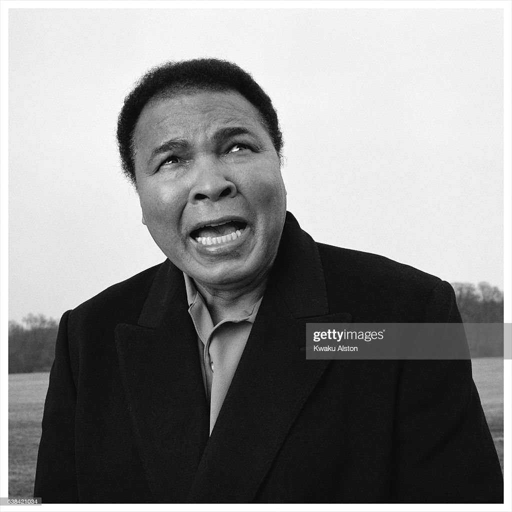 Champion boxer Muhammad Ali is photographed for Self Assignment on May 1, 2001 in Louisville, Kentucky.