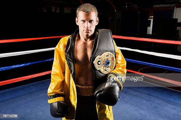 Champion Boxer Standing in the Ring