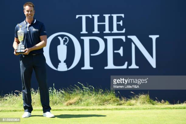 Champion Golfer of 2016 Henrik Stenson of Sweden returns the Claret Jug during a practice round prior to the 146th Open Championship at Royal...