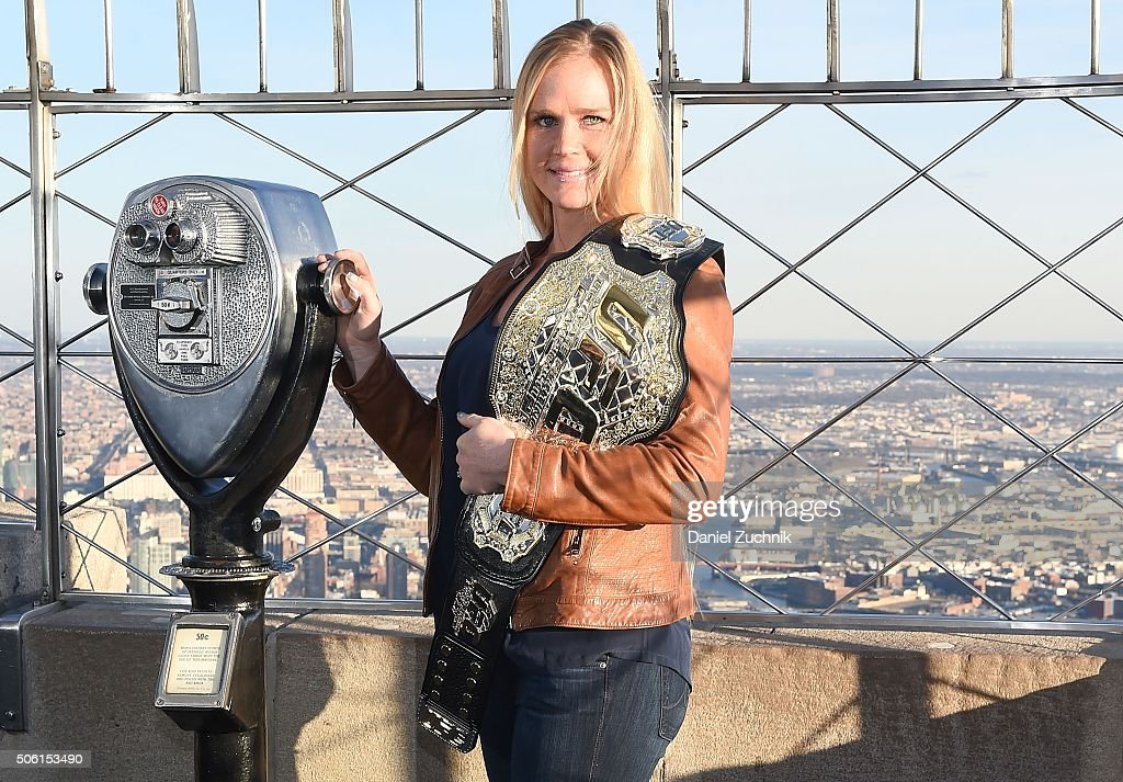 Holly Holm & Miesha Tate Visit The Empire State Building