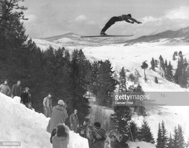 Champion In ActionThis photo of Gordon Wren nationally known ski champion was taken at Steamboat Springs on PanchroPress type B film at 11000th of a...