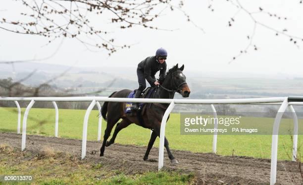 Champion Jockey Paul Hanagan on Irish Heartbeat during a media day at Musley Bank Stables Malton North Yorkshire