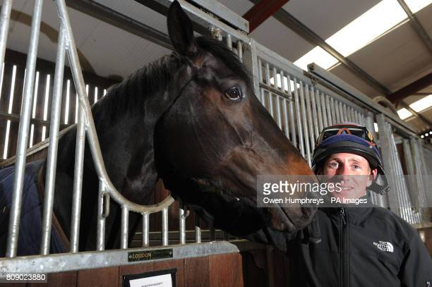 Champion jockey Paul Hanagan with Wootton Bassett who is listed to run in the 2000 Guineas at Newmarket on April 30th during a media day at Musley...