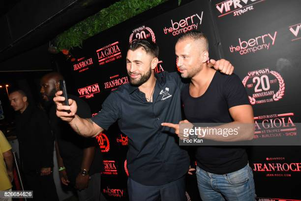 Champion of Kick Boxing Yohan Lindon and a guest attend the the Fight Night Party at VIP Room Saint Tropez on August 4 2017 in SaintTropez France