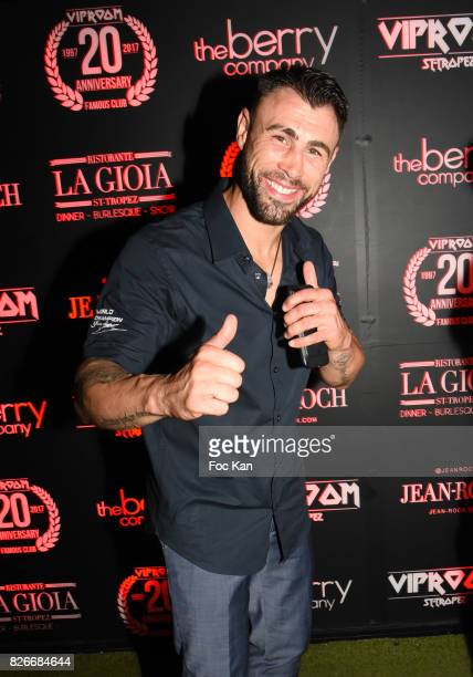 Champion of Kick Boxing Yohan Lindon attends the the Fight Night Party at VIP Room Saint Tropez on August 4 2017 in SaintTropez France