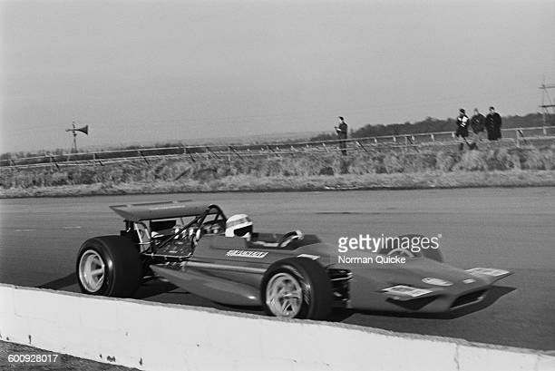 Champion racing driver Jackie Stewart driving the March 701 UK 6th March 1970 The car was designed by Robin Herd and backed by Max Mosley