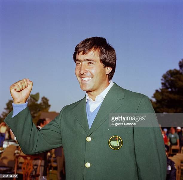 Champion Seve Ballesteros at the Presentation Ceremony of the 1983 Masters Tournament