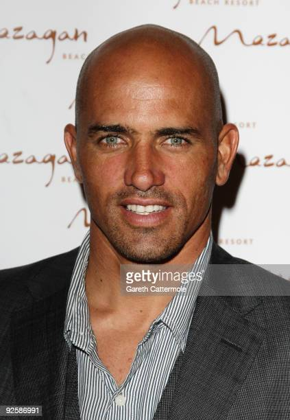 Champion surfer Kelly Slater arrives for the grand opening night of the Kerzner Mazagan Beach Resort on October 31 2009 in El Jadida Morocco 1500...