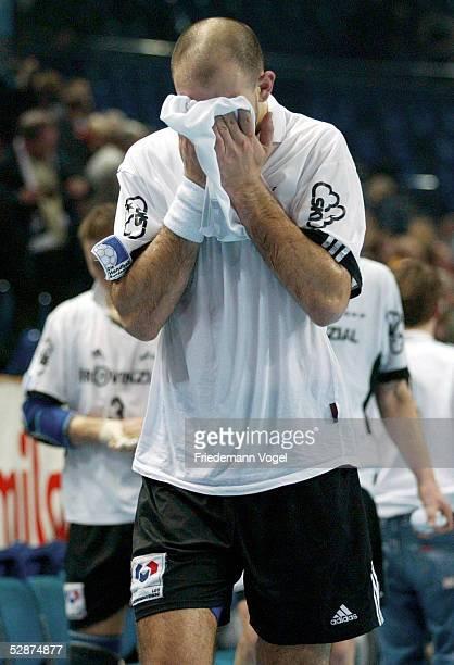 Champions League 02/03 Kiel THW Kiel Prule 67 Ljubljana Davor DOMINLKOVIC/Kiel enttSuscht