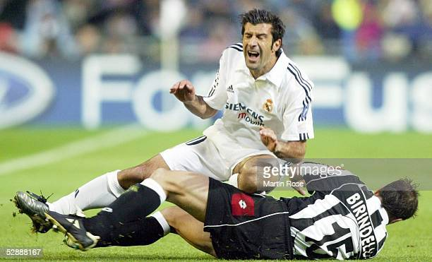 Champions League 02/03 Madrid Real Madrid Juventus Turin 21 Luis FIGO/Real Alessandro BIRINDELLI/Juventus