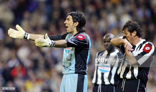 Champions League 02/03 Madrid Real Madrid Juventus Turin 21 Torwart Gianluigi BUFFON Alessandro DEL PIERO/Juventus