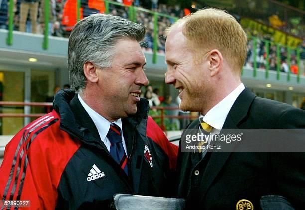 Champions League 02/03 Mailand AC Mailand Borussia Dortmund 01 Trainer Carlo ANCELOTTI/Mailand Trainer Matthias SAMMER/Dortmund