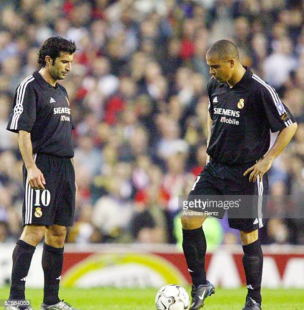 Champions League 02/03 Manchester Manchester United Real Madrid 43 Luis FIGO RONALDO/Madrid