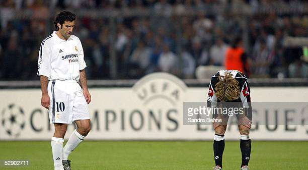 Champions League 02/03 Turin Juventus Turin Real Madrid 31 Luis FIGO/Madrid Pavel NEDVED/Juventus