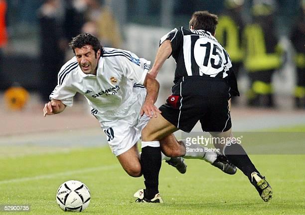 Champions League 02/03 Turin Juventus Turin Real Madrid 31 Luis FIGO/Madrid Alessandro BIRINDELLI/Juventus