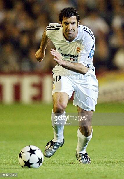 Champions League 02/03 Viertelfinale Madrid Real Madrid Manchester United 31 Luis FIGO/Madrid