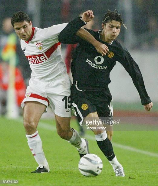 Champions League 03/04 Stuttgart VfB Stuttgart Manchester United Imre SZABICS/Stuttgart Cristiano RONALDO/ManU