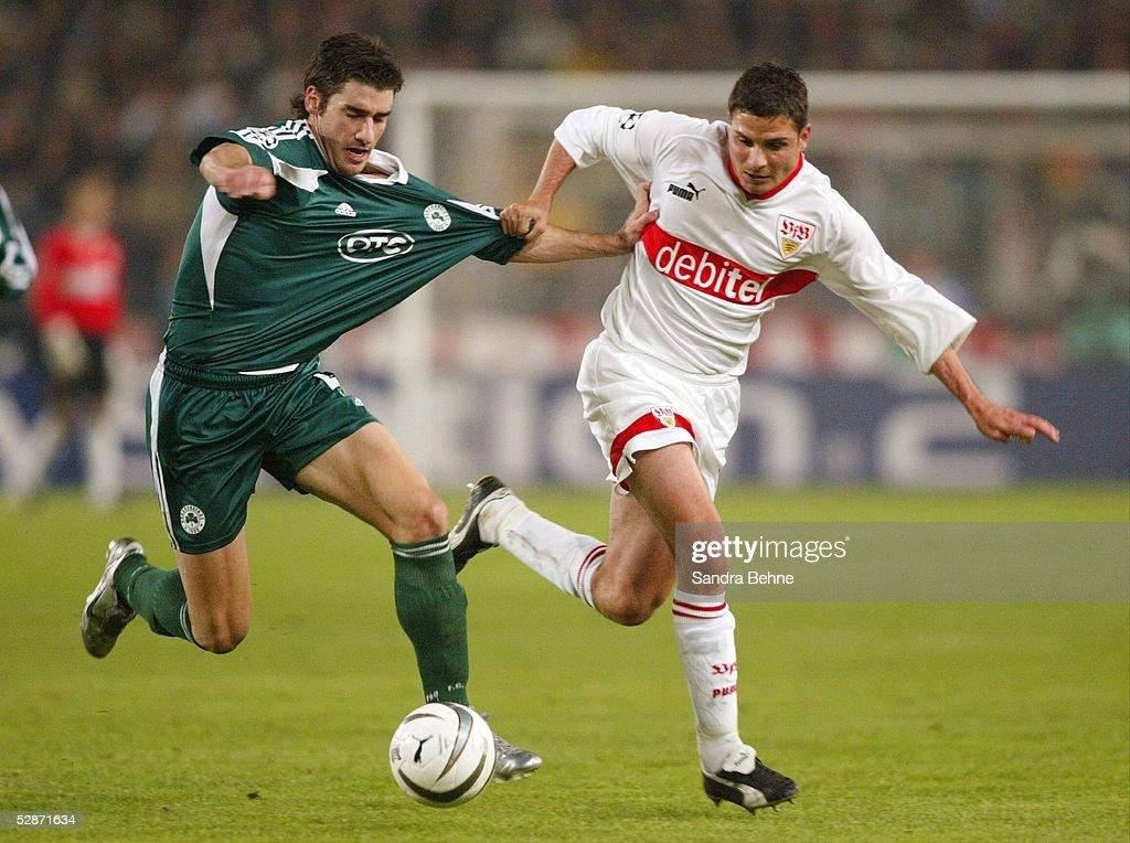 Champions League 03/04 Stuttgart VfB Stuttgart Panathinaikos Athen 20 vl Giorgos SEITARIDIS/Athen Imre SZABICS/Stuttgart