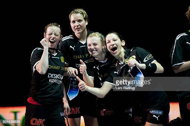 Champions League Final Viborg winning Champions League From left Henriette Rønde Mikkelsen Viborg HK Grit Jurack Viborg HK Gitte Aaen Viborg HK...