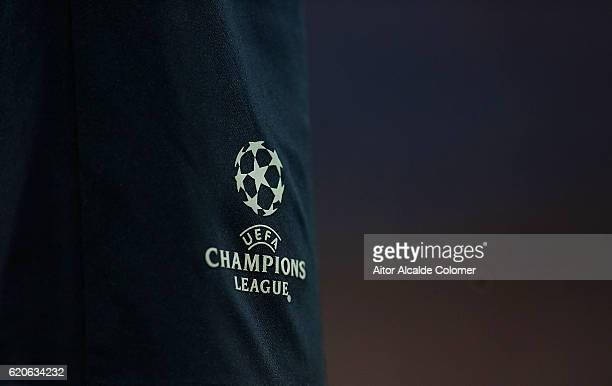 Champions League logo during the UEFA Champions League match between Sevilla FC vs GNK Dinamo Zagreb at the Sanchez Pizjuan Stadium on November 2...