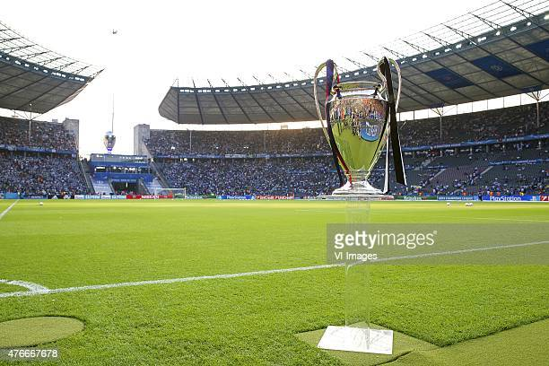 Champions League trophy Coupe des clubs Champions Europeeens during the UEFA Champions League final match between Barcelona and Juventus on June 6...