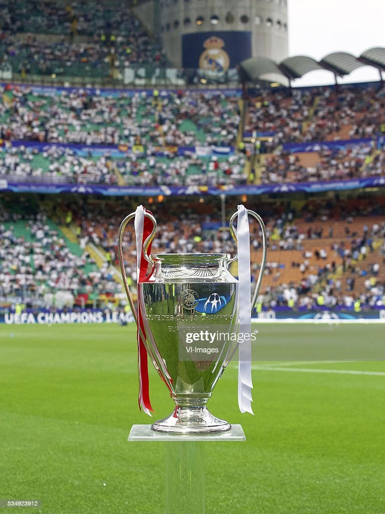 Champions League trophy, Coupe des clubs Champions Europeeens during the UEFA Champions League final match between Real Madrid and Atletico Madrid on May 28, 2016 at the Giuseppe Meazza San Siro stadium in Milan, Italy.