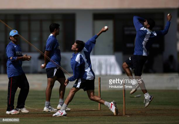 India cricket team practice before their match against West Indies at Sardar Patel Gujarat Ground at Motera in Ahmedabad