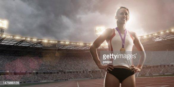 Championship Athlete Gold Medal Winner