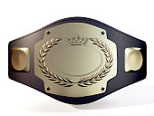 A championship belt made in 3d software.