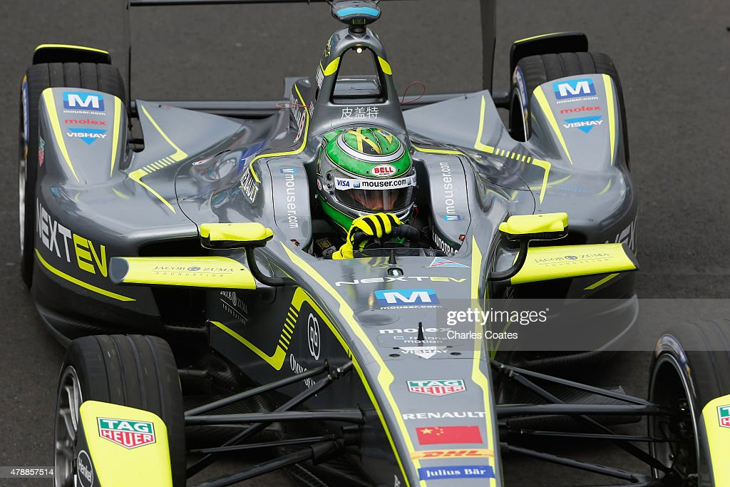 Championship leader Nelson Piquet jr of Brazil driving for the Nextev TCR team during the second practice session on Day two of the 2015 FIA Formula...