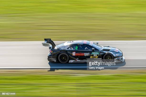 Championship winner Rene Rast of Audi drives on the circuit during the DTM 2017 German Touring Car Championship at Hockenheimring on October 15 2017...