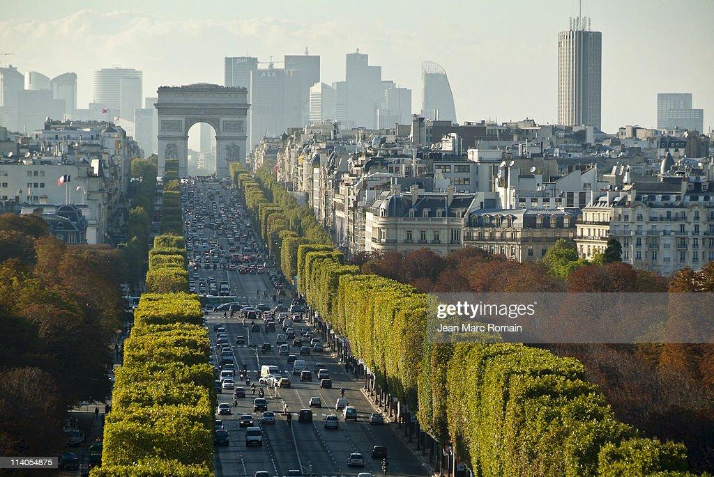 'Champs Elysées' seen of top
