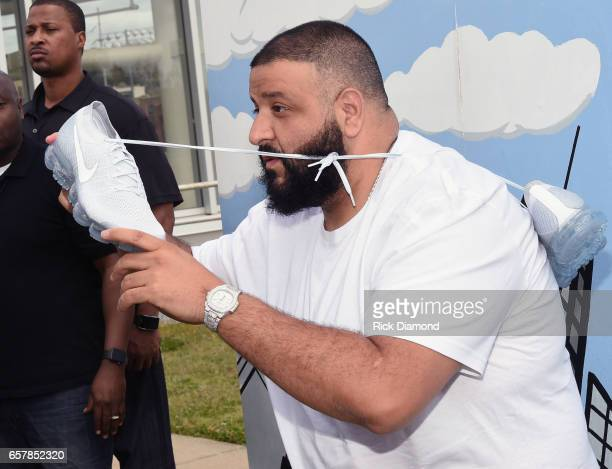 Champs Sports x DJ Khaled Game On Air Event In Atlanta at Maynard H Jackson High School on March 25 2017 in Atlanta Georgia
